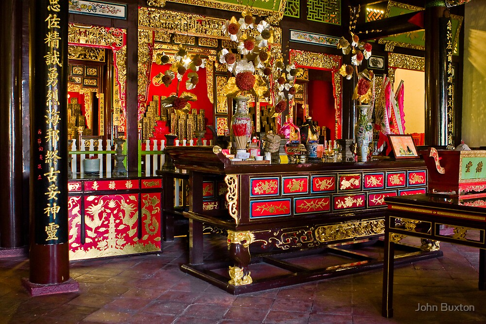 Quot Chinese Temple Interior Georgetown Quot By John Buxton