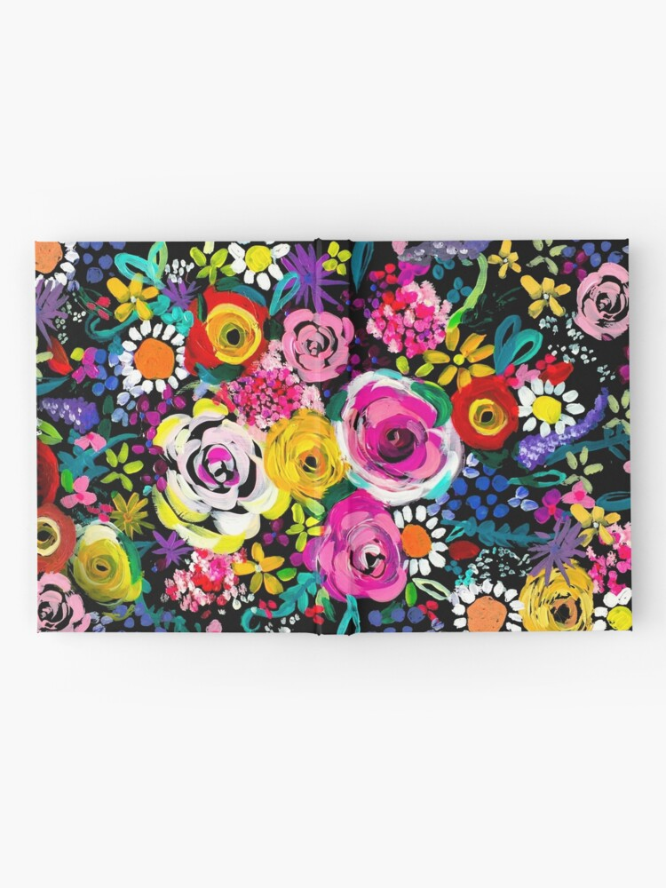 Alternate view of Les Fleurs Vibrant Floral Painting Print Hardcover Journal