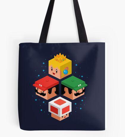 MUSHROOM KINGDOM CUBES Tote Bag