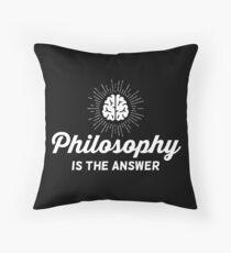Philosophy Vintage Throw Pillow