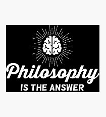 Philosophy Vintage Photographic Print