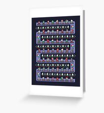 SUPER HOLIDAY KART Greeting Card