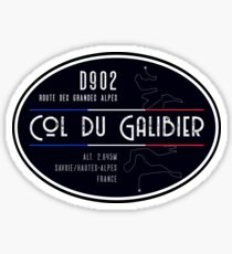 Col du Galibier 04 Motorrad T-Shirt + Aufkleber - Route des Grandes Alpes Sticker
