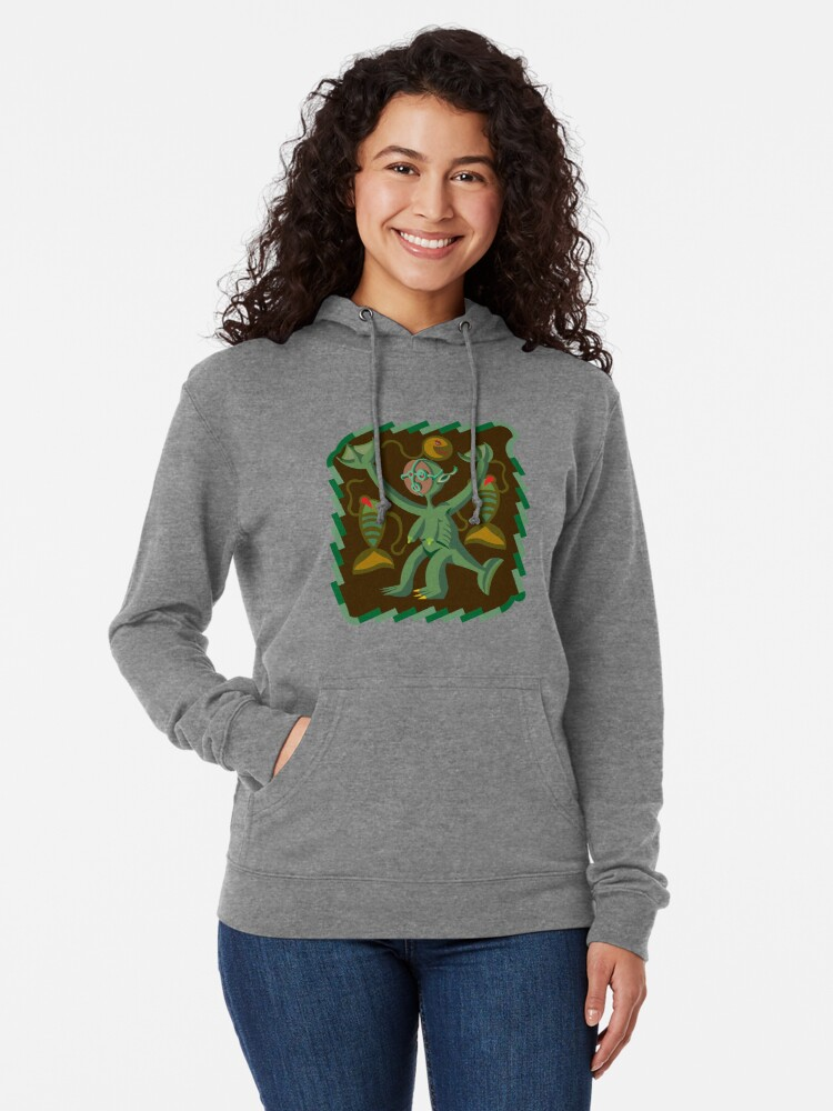 Alternate view of The Nommo are ancestral spirits worshipped by the Dogon people of Mali. Lightweight Hoodie