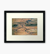 The great canyon from space Framed Print