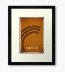 Guardian Druid - WoW Minimalism Framed Print