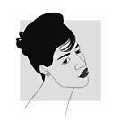 Aretha Franklin Minimal Portrait by MagnaCarter