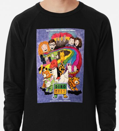 Dinomals Animated Series Poster Lightweight Sweatshirt