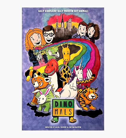 Dinomals Animated Series Poster Photographic Print