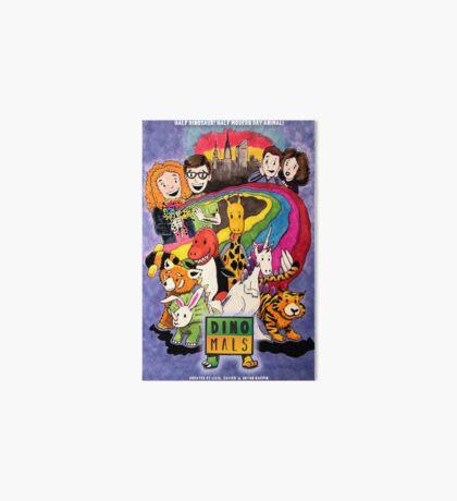 Dinomals Animated Series Poster Art Board Print