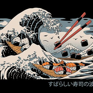 The Great Sushi Wave by vincenttrinidad