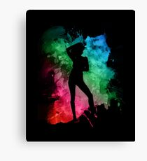 Dancing Party Girl Canvas Print