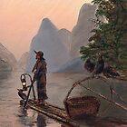Li River Night Fisherman by Randy Sprout