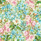 Pink Roses and Forgetmenot  by UtArt