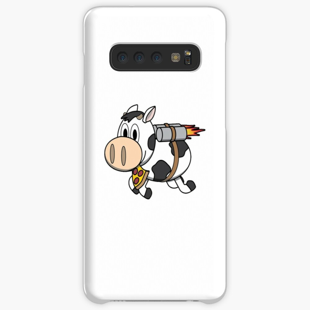 Cow Eating Pizza Wearing a Jetpack Case & Skin for Samsung Galaxy