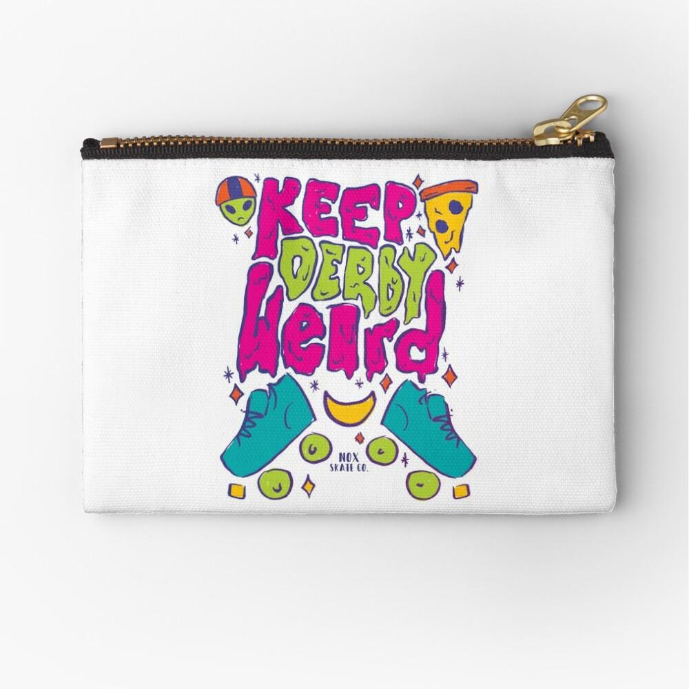 Keep Derby Weird Zipper Pouch