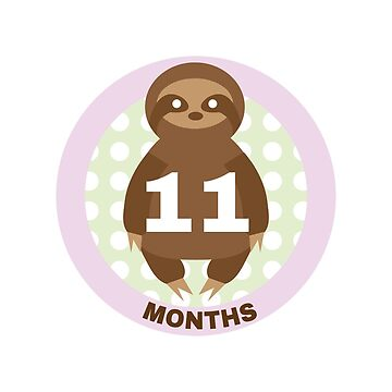 Baby Growth - Sloth (11 Months) by babybigfoot