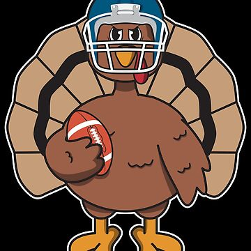 Turkey Football Player - Funny Thanksgiving Gift by yeoys