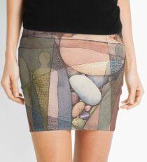 Canyon Dwellers Watercolor Painting Mini Skirt