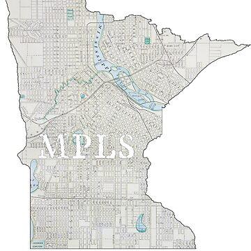 Minneapolis Map by DJBellis