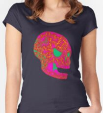 Pink Skull Candy Women's Fitted Scoop T-Shirt