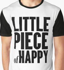 LITTLE PIECE OF HAPPY - Minimalist Phrase Graphic T-Shirt