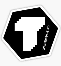 Tegnemaskin Hexagon Black Sticker