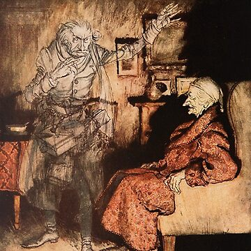Scrooge and Marley - Arthur Rackham from Dickens by Geekimpact