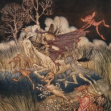 Ichabod Crane tortured by demons - Arthur Rackham from Sleepy Hollow by Geekimpact