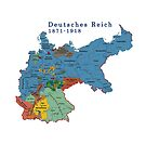 Map of Old Germany 1871 by edsimoneit