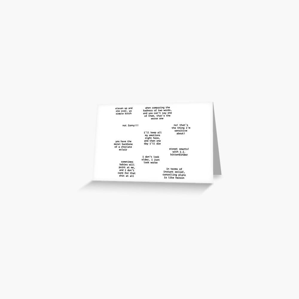 John Mulaney Quotes Greeting Card