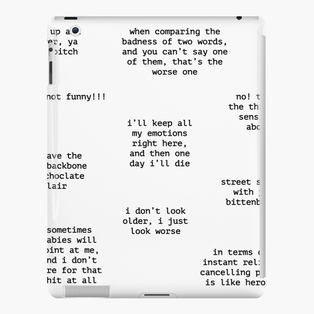 John Mulaney Quotes iPad Case & Skin