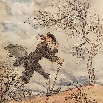 Ichabod Crance - Arthur Rackham from Sleepy Hollow by Geekimpact