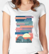 Tropical Skies Women's Fitted Scoop T-Shirt