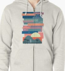 Tropical Skies Zipped Hoodie