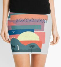 Tropical Skies Mini Skirt
