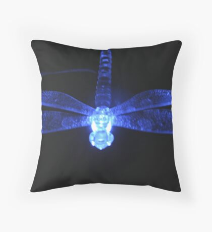 Dragonfly Glow Throw Pillow