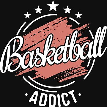 Basketball Addict T-Shirt - Cool Funny Nerdy Comic Graphic Heartbeat Basketballer Basketball Player Men's Team Coach Team Humor Saying Sayings Shirt Tee Gift Gift Idea by melia321