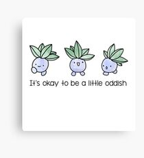 A Little Oddish Canvas Print