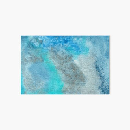 Small Blue Watercolor Bleed Painting Art Board Print