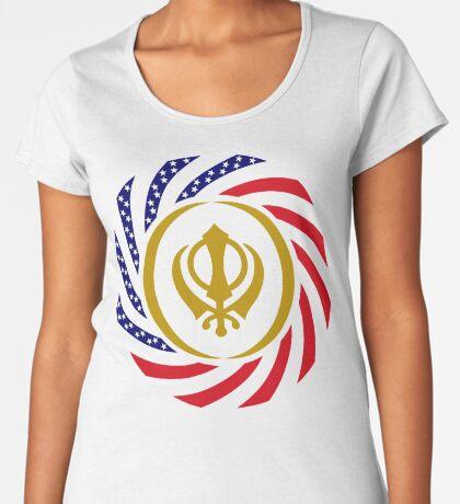 Sikh American Patriot Flag Series Women's Premium T-Shirt