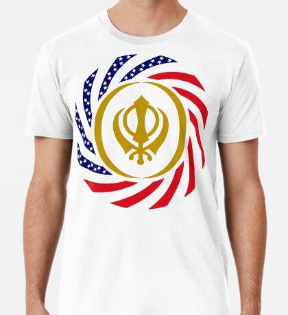 Sikh American Patriot Flag Series Men's Premium T-Shirt