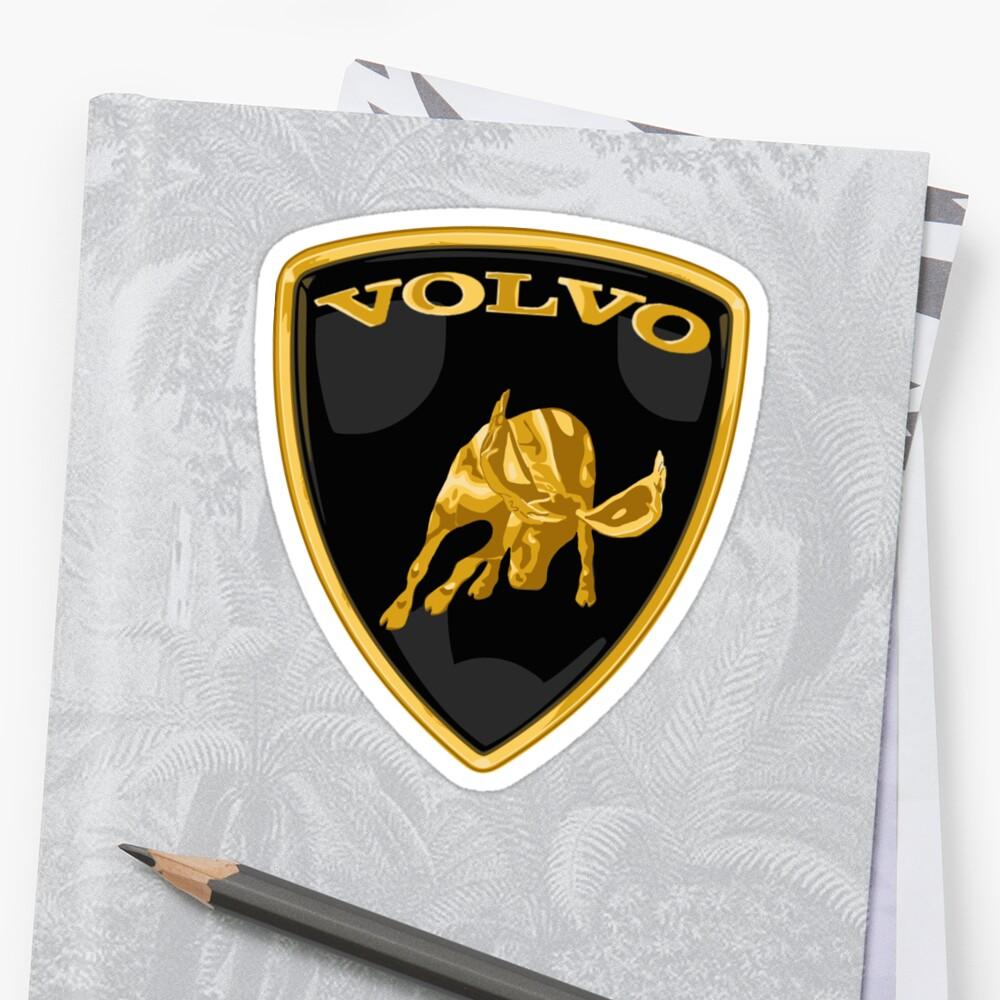 Volvo Moose Lamborghini Sticker By Watukka Redbubble