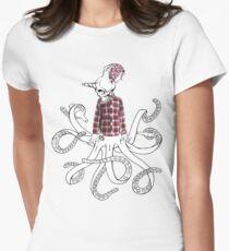 skullntentacles Women's Fitted T-Shirt