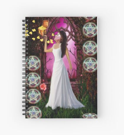 NINE OF PENTACLES Spiral Notebook
