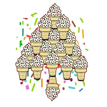 Ice Cream Christmas Tree by Zmagine