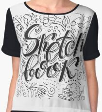 Sketch book Chiffon Top