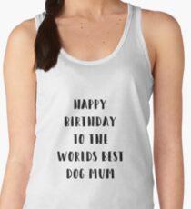 Dog Birthday Card Women's Tank Top
