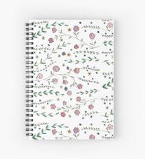 Pretty Posy Pattern Spiral Notebook