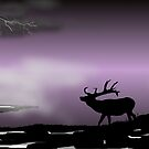 Lone Elk by Ed Moore